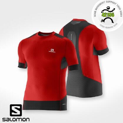 萨洛蒙 Salomon EXO 男子跑步紧身短袖T恤 371514