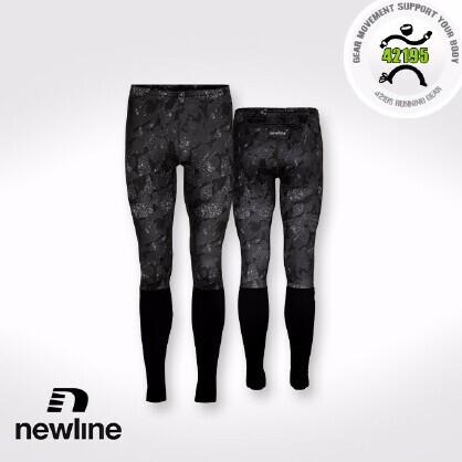 Newline Imotion 男子运动跑步紧身印花保暖长裤 71137